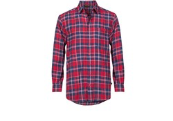 Life Line Anton Flanel Shirt Red Check Heren