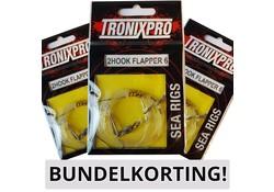Tronixpro BUNDEL 10x Sea Rig 2 Hook Flapper 6