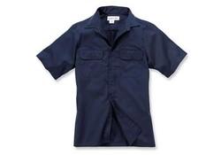 Carhartt Twill Short Sleeve Work Shirt Navy Heren