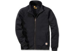 Carhartt Midweight Mock Neck Zip Sweatshirt Black Heren