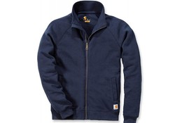 Carhartt Midweight Mock Neck Zip Sweatshirt New Navy Heren