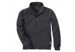 Carhartt Midweight Mock Neck Zip Sweatshirt Carbon Heather Heren