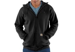 Carhartt Midweight Zip Hooded Sweatshirt Black Heren
