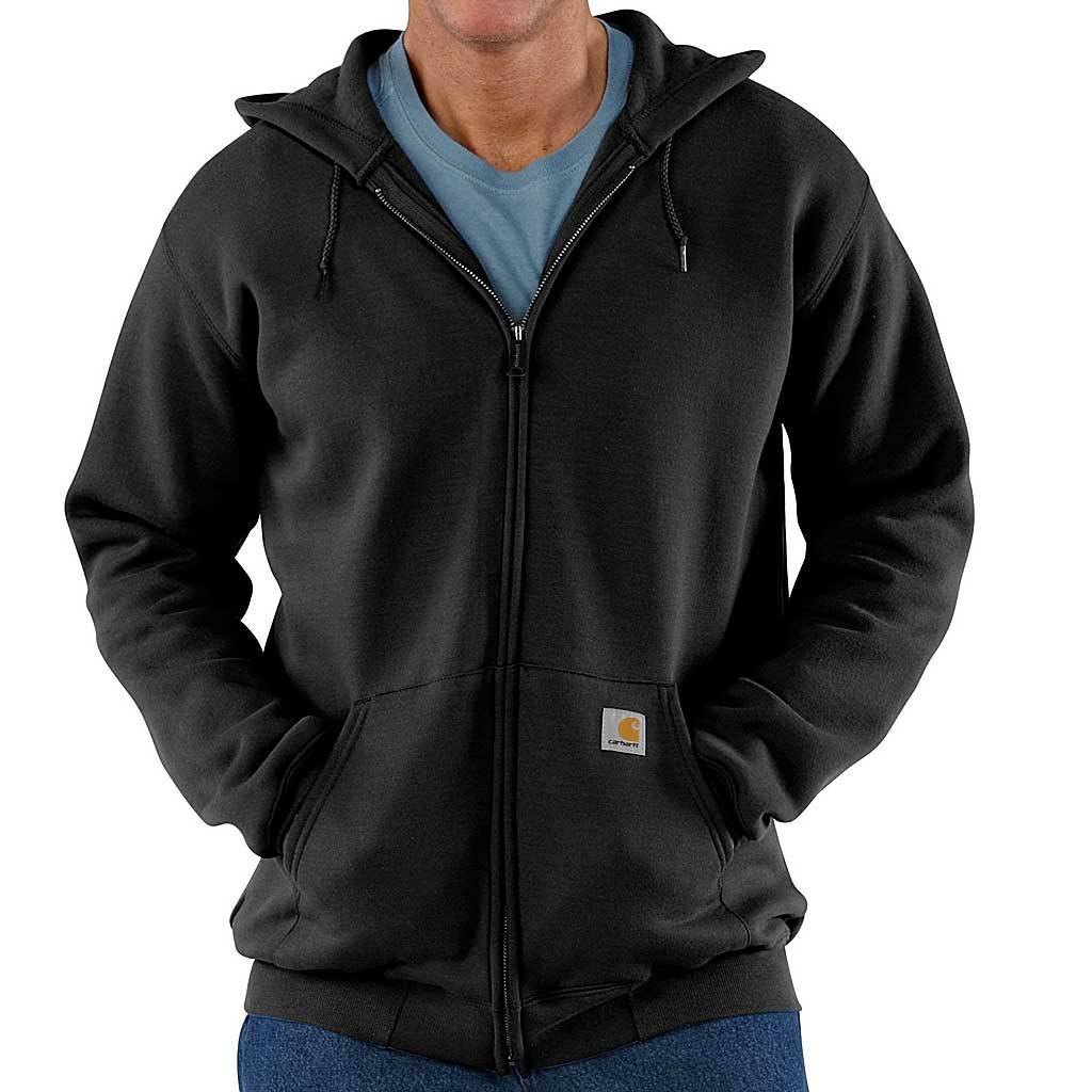 Carhartt Midweight Zip Hooded Sweatshirt Zwart Heren Size : XL