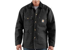 Carhartt Duck Chore Coat Black Werkjas Heren