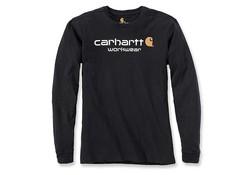 Carhartt Core Logo Black Long Sleeve T-Shirt Heren