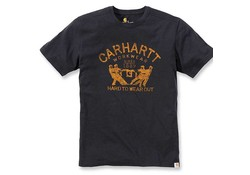Carhartt Hard To Wear Out Graphic Black T-Shirt Heren
