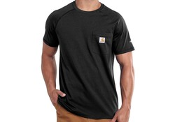 Carhartt Force Cotton Black T-Shirt Heren
