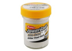 Berkley Powerbait Glitter Trout Bait White