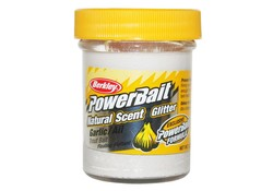 Berkley Powerbait Glitter Trout Bait Garlic White