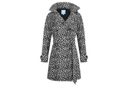 Happy Rainy Days Trenchcoat Bernice Black-Off White Regenjas Dames