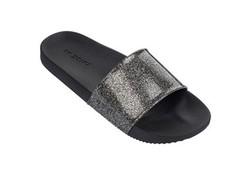 Zaxy Snap Glitter Black Slippers Dames