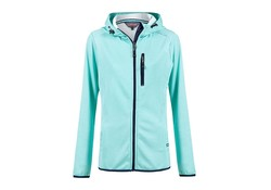 Life Line Janine Turquoise Hooded Sweat Vest Dames