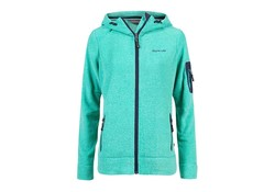Life Line Jessie Turquoise Hooded Fleece Vest Dames