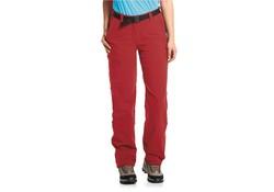 Maier Sports Inara Pants Slim Zip-Off Lang Rood Outdoorbroek Dames