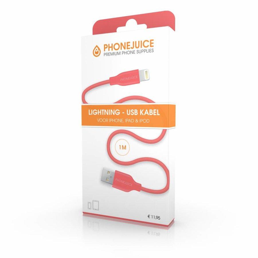 1 meter lange iPhone 5 / 6 / 7 / 8 / X / iPad lightning kabel – Roze