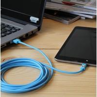 3 meter lange iPhone 5 / 6 / 7 / 8 / X / iPad lightning kabel – Blauw
