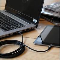 3 meter lange iPhone 5 / 6 / 7 lightning kabel – Zwart
