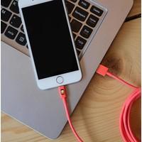 3 meter lange iPhone 5 / 6 / 7 lightning kabel – Roze