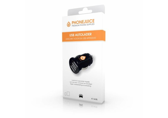 PhoneJuice Autolader 12V - 2A