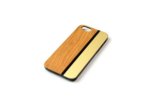 PhoneJuice ALWO Case - Kers/Goud - iPhone 5(s)(se)