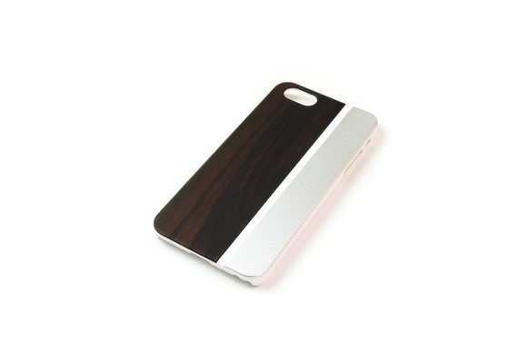 PhoneJuice ALWO Case - Padauk/Zilver - iPhone 5(s)(se)