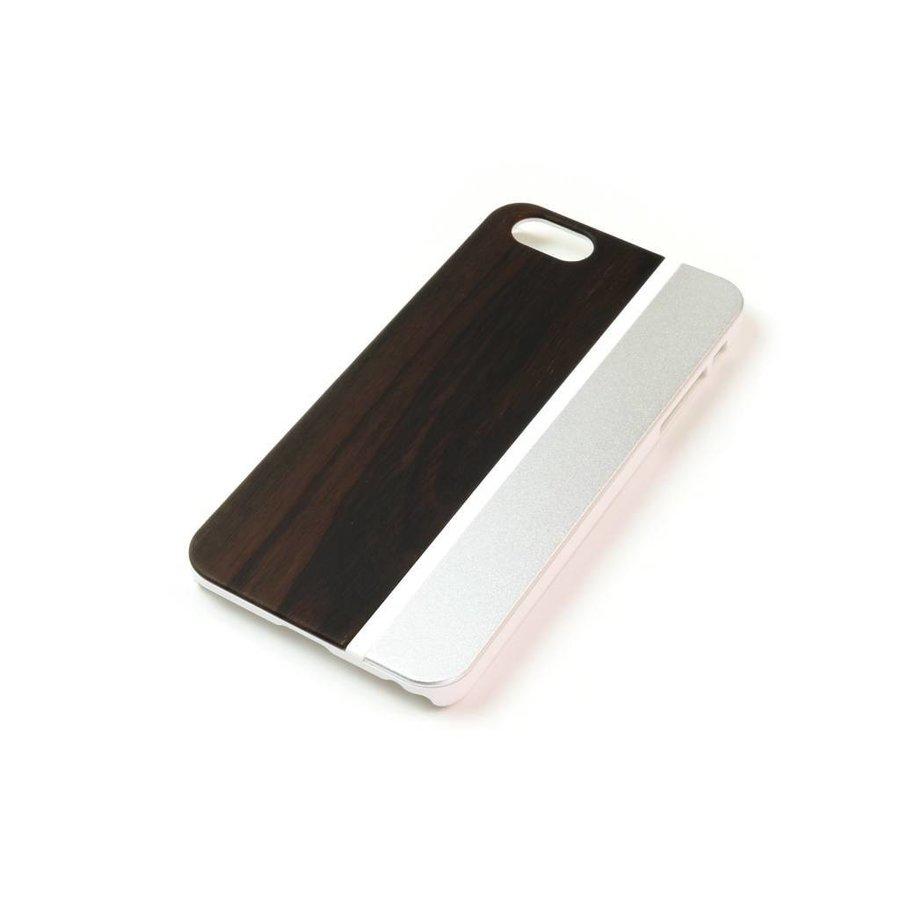 ALWO Case - Padauk/Zilver - iPhone 5(s)(se)