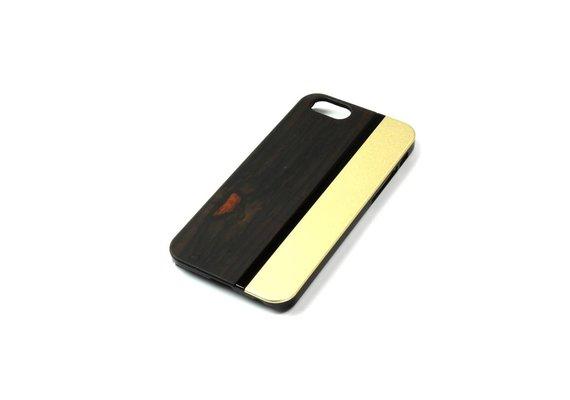 PhoneJuice ALWO Case - Padauk/Goud - iPhone 5(s)(se)