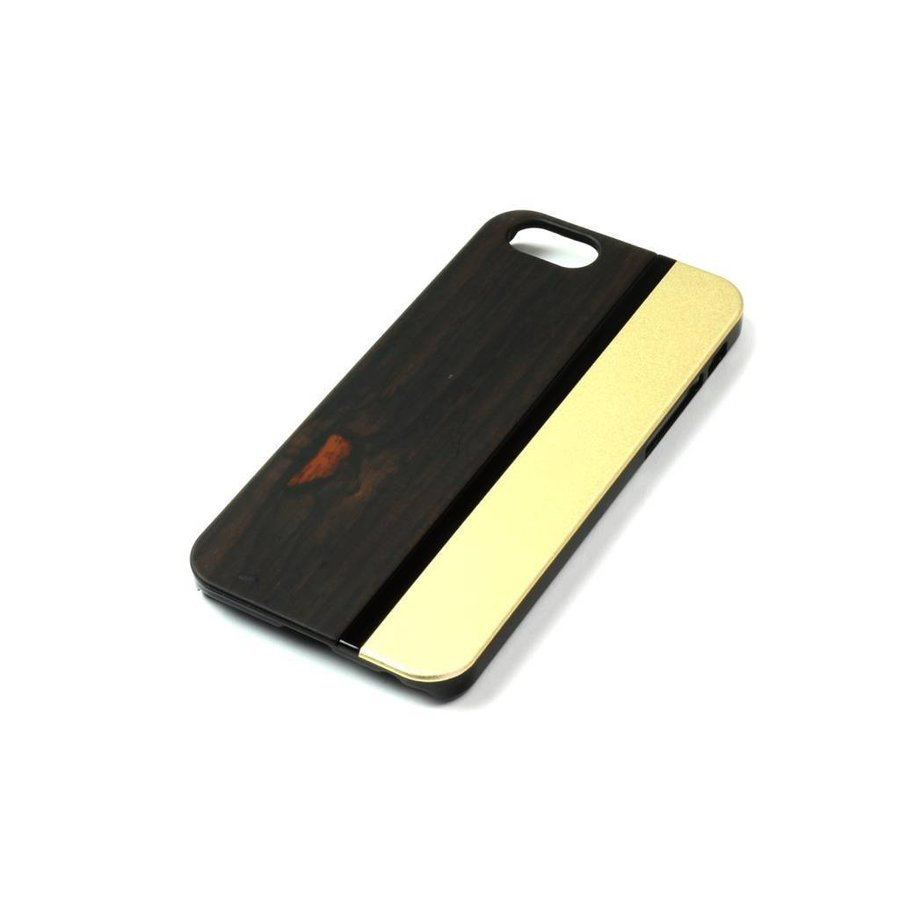 ALWO Case - Padauk/Goud - iPhone 5(s)(se)