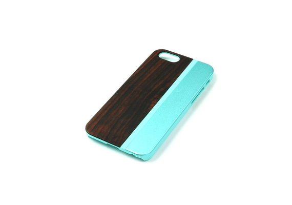 PhoneJuice ALWO Case - Padauk/Blauw - iPhone 5(s)(se)