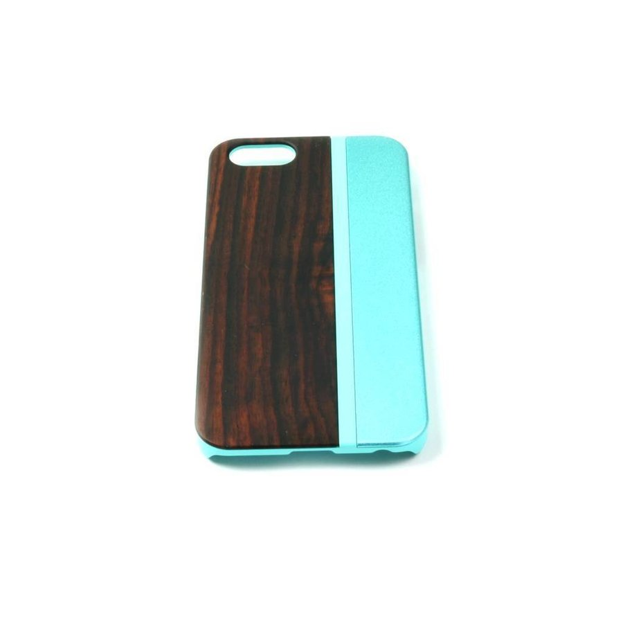 ALWO Case - Padauk/Blauw - iPhone 5(s)(se)