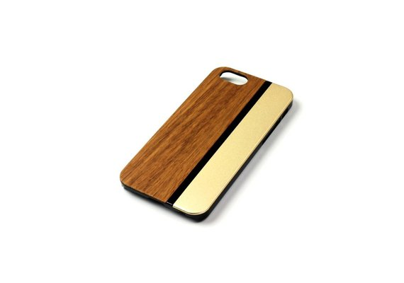 PhoneJuice ALWO Case - Zebra/Goud - iPhone 5(s)(se)