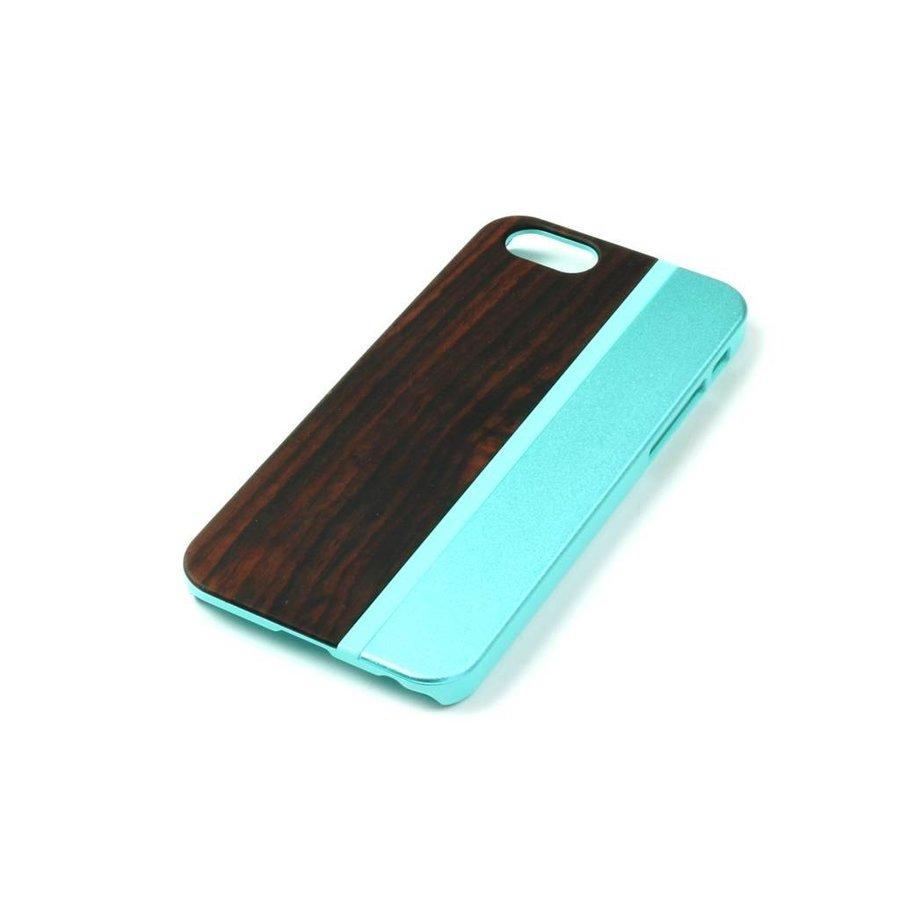 ALWO Case - Padauk/Blauw - iPhone 6(s) Plus