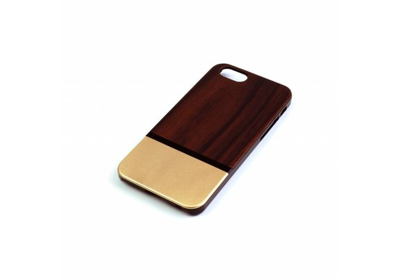 PhoneJuice ALWO Case 2 - Padauk/Goud - iPhone 6(s)