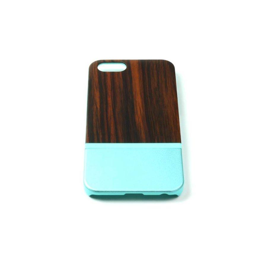 ALWO Case 2 - Padauk/Blauw - iPhone 6(s)