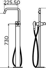 Kaldur freestanding bathtub mixer