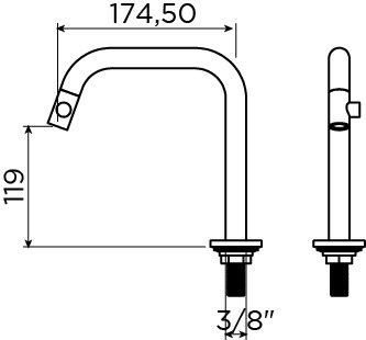 Kaldur Kaldur cold water tap