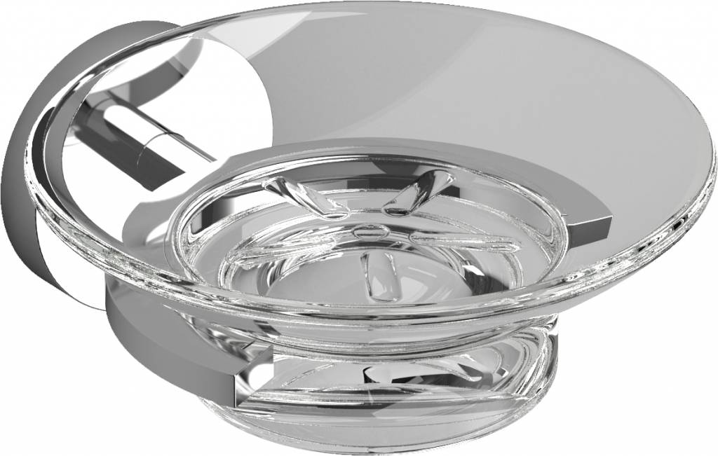 Flat soap dish