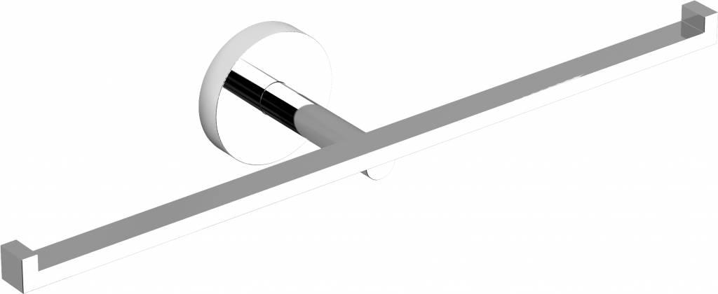 Flat dubbele toiletrolhouder