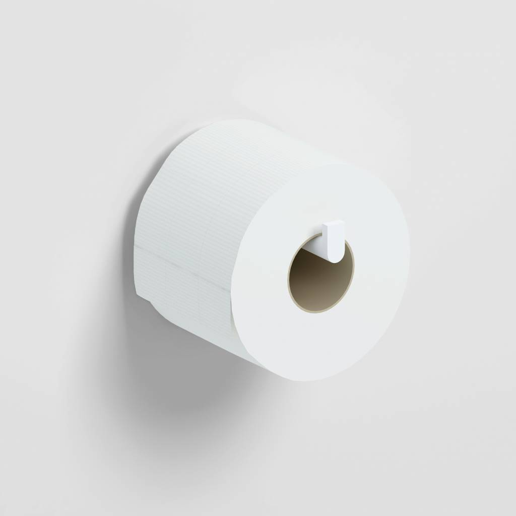 Flat toilet paper holder