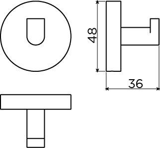 Flat set of 2 hooks