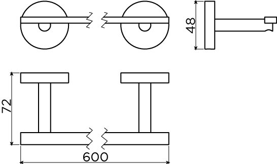 Flat porte-serviette