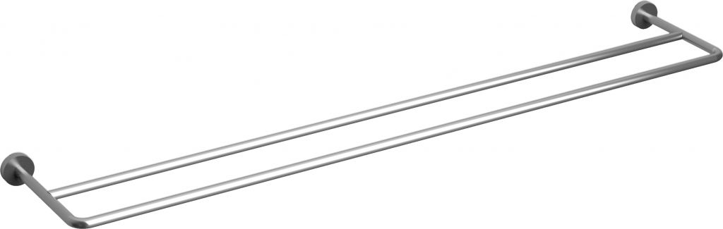 Slim double towel rail