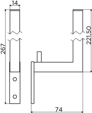 Quadria reserve toiletrol houder