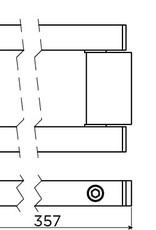 Quadria moveable double towel rail
