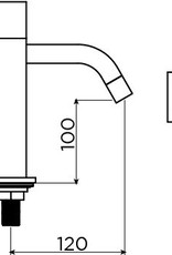Freddo 5 cold water tap high