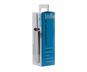 Toilet Accessoires Set : Inbe toilet accessories set chrome clou store