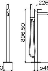 Xo freestanding bathtub mixer type 13