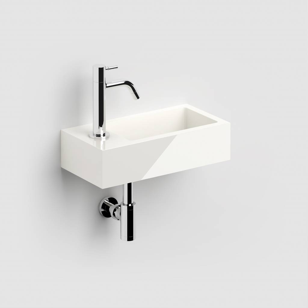 Flush 3 hand basin left
