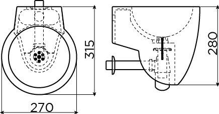 Flush 6 hand basin set